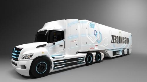 pila de combustible camión